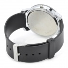 Fashion Man's PU Band Quartz Analog Waterproof Wrist Watch - Black + White (1 x 377)