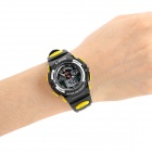 Kid's Rubber Band Quartz Analog + Digital Waterproof Watch - Black
