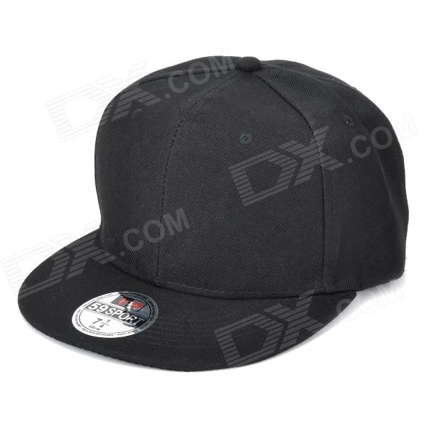 DONGGUO DG0141 Adjustable Cotton Snapback Hip-hop Hat - Black slim version hop 15xx laser len for xbox x360 liteon dg 16d4s black