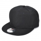 DONGGUO DG0141 Adjustable Cotton Snapback Hip-hop Hat - Black