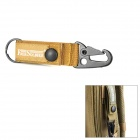 Free Soldier Outdoor Quick Release Belt Snap Hook Keychain - Coyote Tan