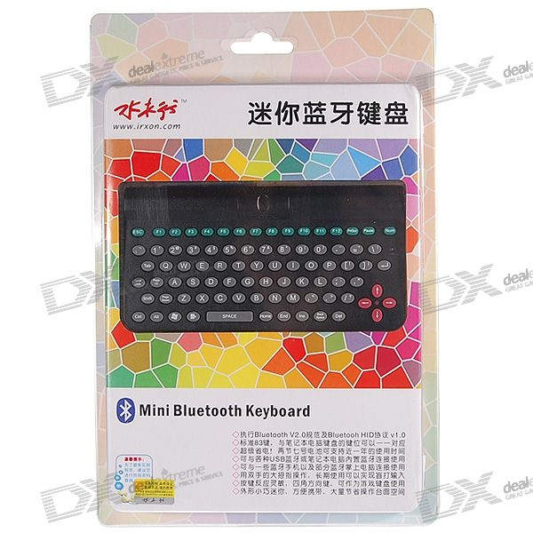 Super Mini Bluetooth Wireless Keyboard for PC/PDA/Cell Phones (2*AAA)