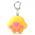 Cat Paw Style White Light 2-LED Flashlight Keychain w/ Meow Sound Effect - Yellow + Pink (3 x AG10)