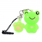 Cute Frog Style Decoration w/ Caller Signal Flashing LED & 3.5mm Plug - Green (1 x CR927)