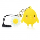 Cute Chicken Style Decoration w/ Caller Signal Flashing LED & 3.5mm Plug - Yellow (1 x CR927)