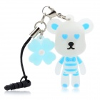 Cute Bear Stil Dekoration w / Caller Signal Blinkende LED & 3,5 mm Klinkenstecker - Blue + White (1 x CR927)