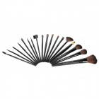 MAKE-UP FOR YOU Professional 18-in-1 Cosmetic Makeup Brushes Set - Black