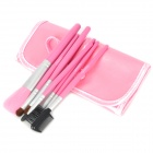 EMILY Professional 7-in-1 Cosmetic Makeup Brushes Set - Pink