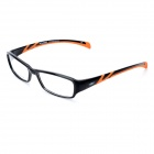 LiFei OP0904-7 Stylish TR90 Plastic Lens Glasses - Black + Orange