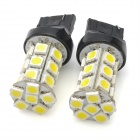 T20 7W 260lm 24-SMD 5050 LED White Light Car Brake / Steering Lampe (12V / 2 PCS)