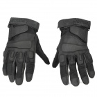 Free Soldier Tactical Sports Full-Finger Riding Gloves - Black (Size XL)