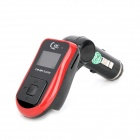 "FM104 1"" LCD Car MP3 Player FM Transmitter with Remote Controller - Red (12V)"