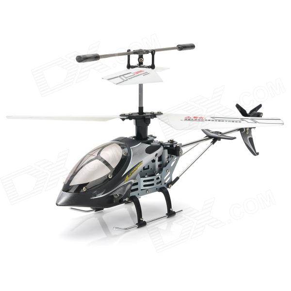 Rechargeable 4-CH IR Remote Controlled R/C Helicopter w/ Gyro - Black + Silver + White remote controlled rechargeable racing kart r c car with desktop stand 40mhz