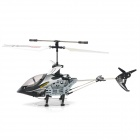 Rechargeable 4-CH IR Remote Controlled R/C Helicopter w/ Gyro - Black + Silver + White
