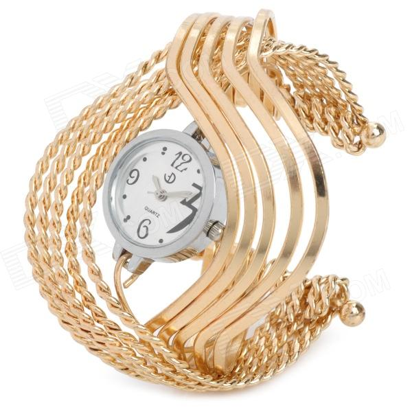 Fashion Women's Bracelet Watch - Golden (1 x 377)