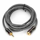 Jinsanjiao SF-3613 3.5mm Female to Male Audio Cable - Black (176cm)