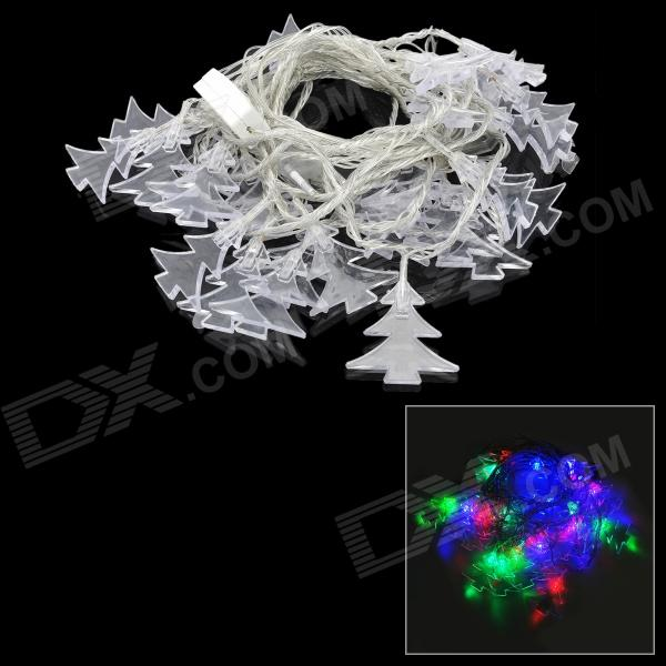 3W 30-LED Strobe RGB Light Christmas Tree Style Decorative String Light (220V / 2-Round-Pin Plug)