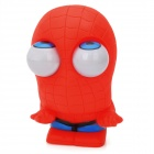 Nette lustige Rollen Augäpfel Pop-out Plastic Stressabbau Toy Spider-Man - Red