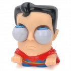 Cute Funny Rolling Eyeballs Pop-out Plastic Stress Reliever Toy Superman - Red + Blue + Black