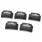 Alice A010C Rubber Guitar Pick Holder - Black (5 PCS)