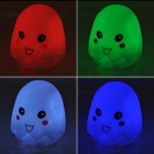 Cute Eggshell Style Decorative LED Lamp with Multi-Color Changing Light - White (3 x AG13)