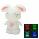 Cute Rabbit Style Decorative LED Lamp with Multi-Color Changing Light - White + Pink (3 x AG13)