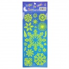 Snowflake Pattern Home Decorative Luminous Stickers - Fluorescence Green