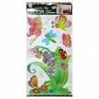 3D Flower Fairy Style Kids Room Decoration Luminous Stickers - Multicolor