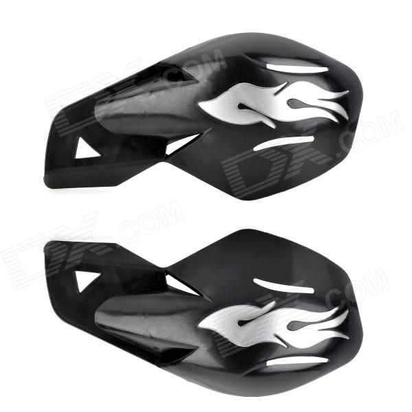 MP043 Cool Windproof Motorcycle Handlebar Guard Protector - Black + Silver (2 PCS)