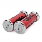 DIY Cool Flame Pattern Handle Grip for Motorcycle - Red + Black + Silver (2 PCS)