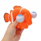 Cute Funny Rolling Eyeballs Pop-out Plastic Stress Reliever Toy Clownfish - Orange