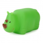 3071 Nette Kinder baden Lustige LED blinkt Rhinoceros Toy - Green (1 x LR616)