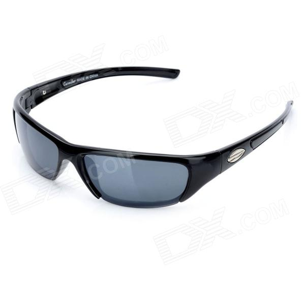 CARSHIRO Y942 Fashion Sports UV400 Protection Resin Lens Riding Sunglasses - Black carshiro 9150 uv400 protection resin lens polarized night vision driving glasses