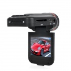 "2.0"" TFT 3.0MP 4X Digital Zoom Wide Angle Car DVR Camcorder w/ 8-LED IR Night Vision - Black"