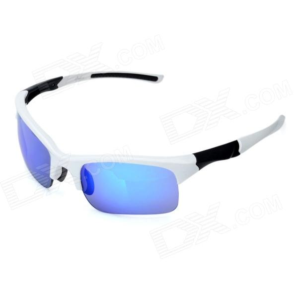 OREKA Fashion Sports REVO PC Lens Riding Sunglasses - White + Blue