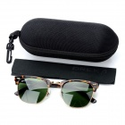 OREKA WG010 Retro UV400 Protection Optical Glass Lens Sunglasses - Dark Green