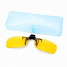 Clip-On UV 400 Protection Sunglasses - Yellow