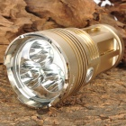 SKYRAY KING New-M6 3 2500lm 3-Mode White Light Flashlight - Golden (4 x 18650)