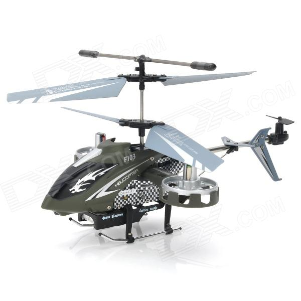 Rechargeable 4-CH IR Remote Control Helicopter w/ USB Cable + Gyro - Green + Black + More
