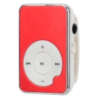 Stylish Mini Aluminum Alloy Panel MP3 Player w/ TF - Red + White