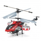 Rechargeable 4-CH IR Remote Control Helicopter w/ USB Cable + Gyro - Red + Black + Silver