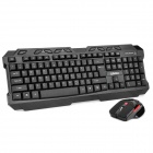 Lingdu D9500 2.4GHz Wireless 113-Key Keyboard + 1000/1600DPI Mouse - Black (1 x AA / 2 x AAA)