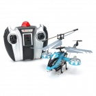Rechargeable 4-CH IR Remote Control Helicopter w/ USB Cable + Gyro - Blue + Black + Silver