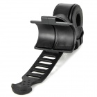 360 Degrees Rotation Mount Holder Clip for Bike Flashlight - Black
