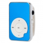 Stylish Mini Aluminum Alloy Panel MP3 Player w/ TF - Blue + White
