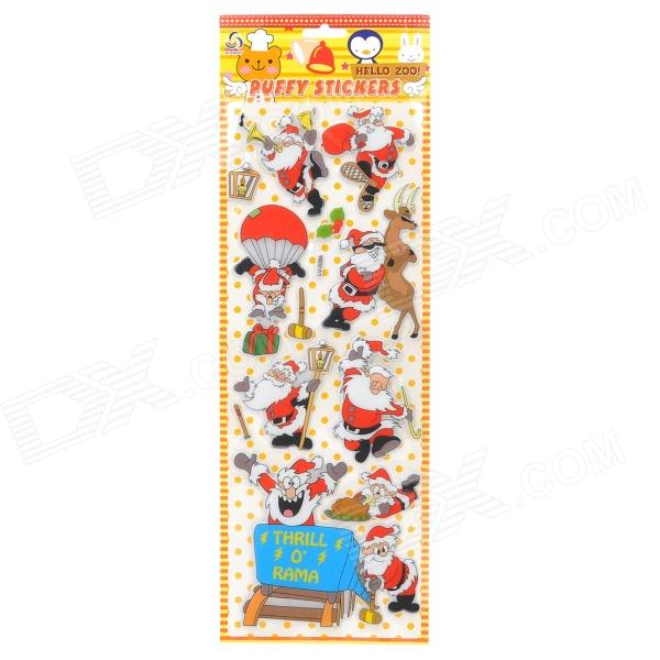 Christmas Santa Claus Home Decoration Wall Sponge PVC Sticker Kit