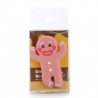 JD-1106 lindo estilo Gingerbread Man cable Cable Winder Organizador - Pink