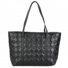 PU Leather One Shoulder Bag for Women - Black