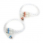RCA Male to 2-Female Audio Cable for Car (2 PCS)