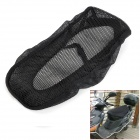 Nylon Fabric Motorcycle Saddle Seat Cover - Black